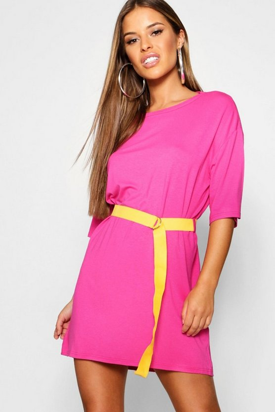 Petite Belted T Shirt Dress