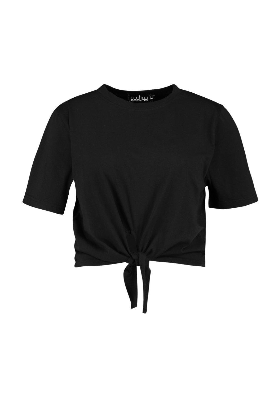 Front black Tie Plus Cotton Tee 5gzZqOnwZ