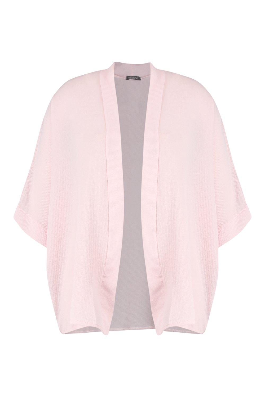 Plus tejido Kimono rosa rosa Plus tejido Kimono pálido pálido pálido rosa Kimono Plus tejido XzrBX7