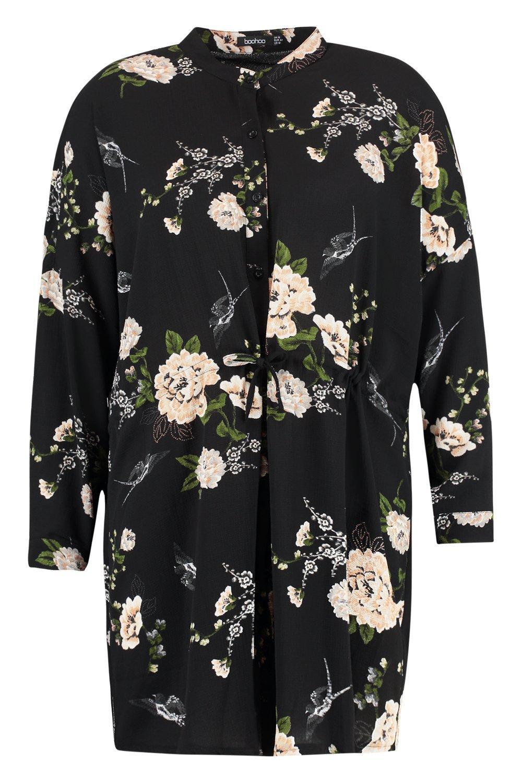 Plus floreale a Plus camicia Abito a camicia floreale Abito aPBa1qgw