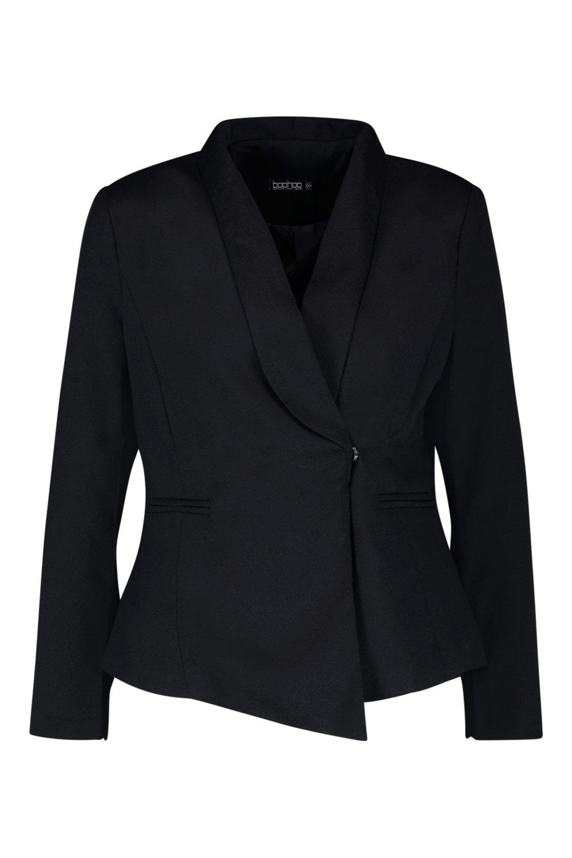 asimétrico Blazer asimétrico negro Blazer negro Petite Blazer asimétrico Petite wRHaqaO