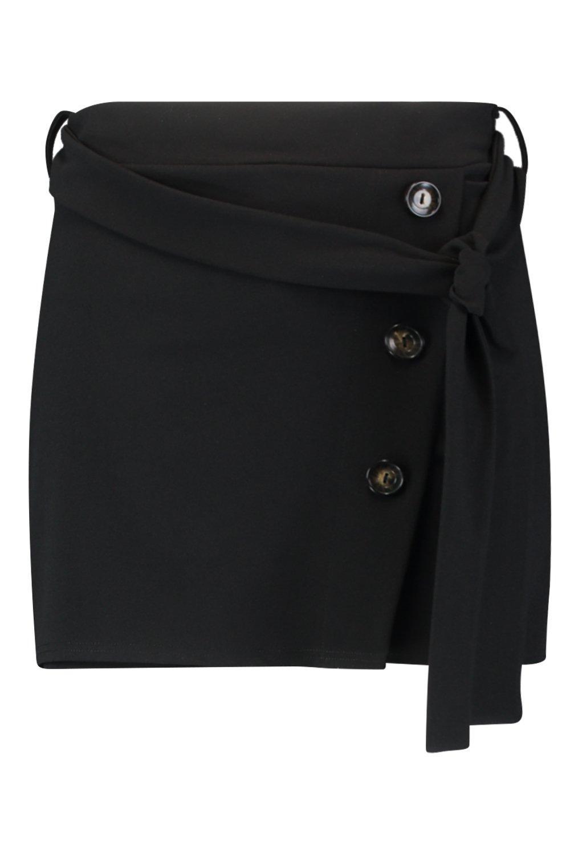 de pantalón detalle con botones Falda Plus negro zwfxtZf