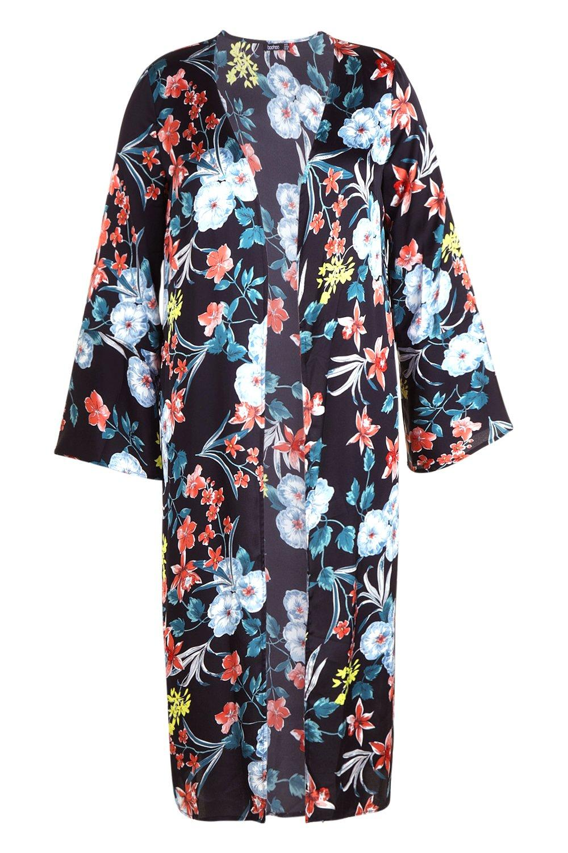 negro Guardapolvo floral premium maxi Plus qp7IfHw