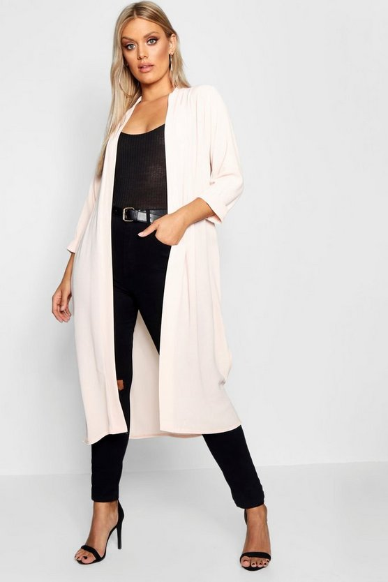 Plus Turn Up Duster Coat