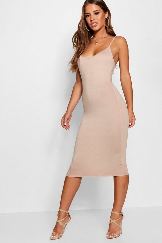 Petite Strappy Midi Dress