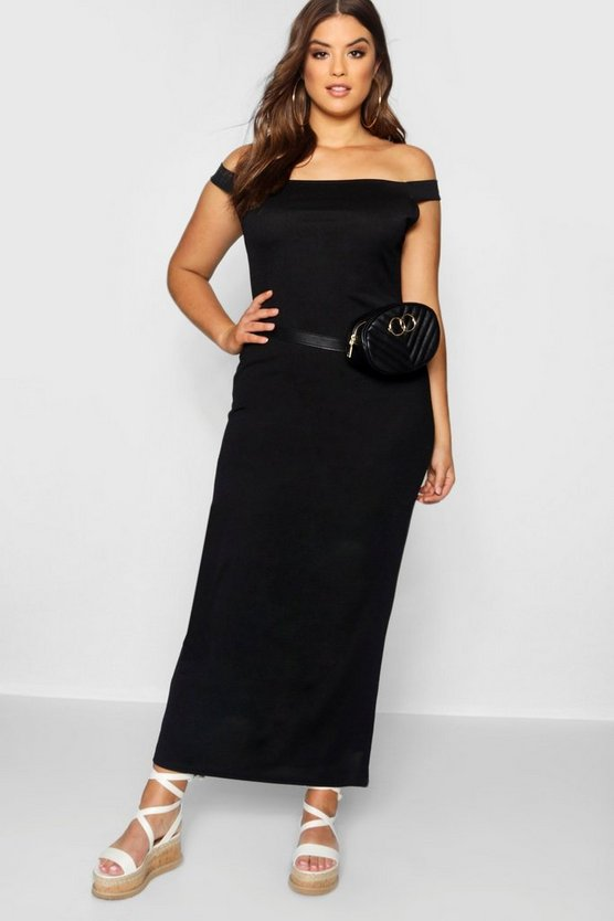 Plus Off The Shoulder Jersey Maxi Dress