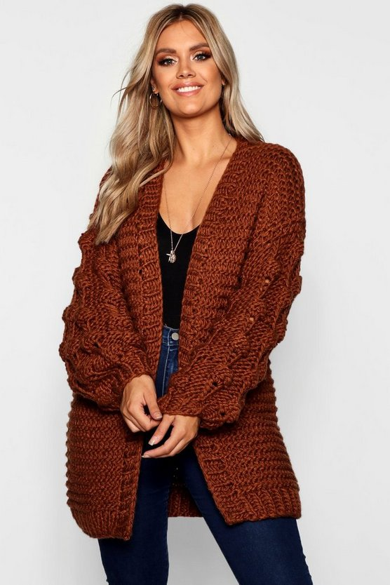 Plus Oversized Hand Knitted Chunky Cardigan