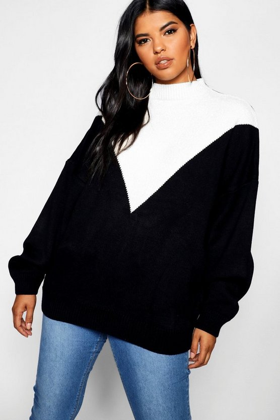 Plus Oversized Knit Balloon Sleeve Sweater