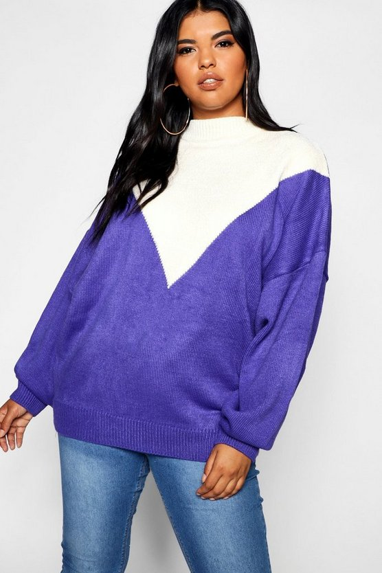 Plus Oversized Knit Balloon Sleeve Jumper
