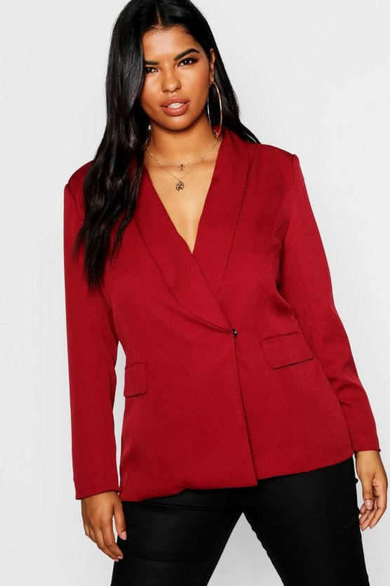 Plus Pocket Detail Blazer