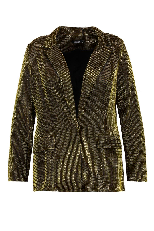 Blazer metálico Plus dorado Blazer metálico awWqaBvS