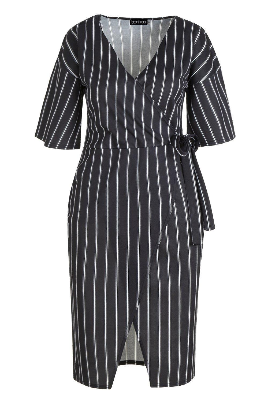 abito a righe longuette kimono stile Plus R1qpzw1