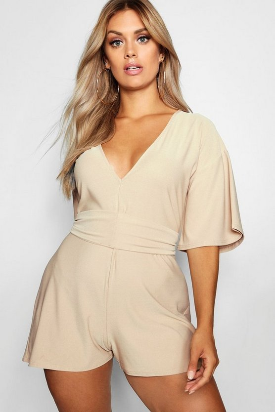 Plus Tie Waist Playsuit