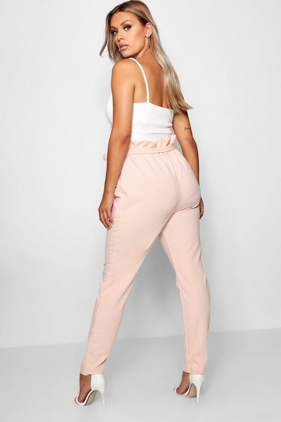 Plus Paperbag Tapered Trouser