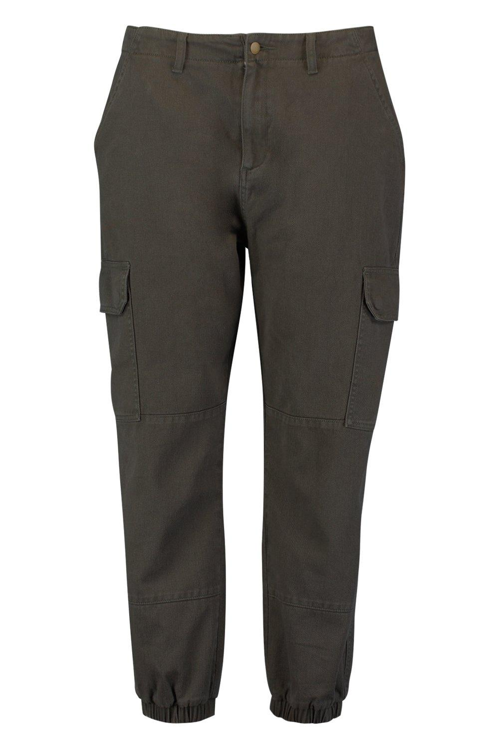 utility risvolti stile in in Plus Pantaloni con denim Zfg4qnw8