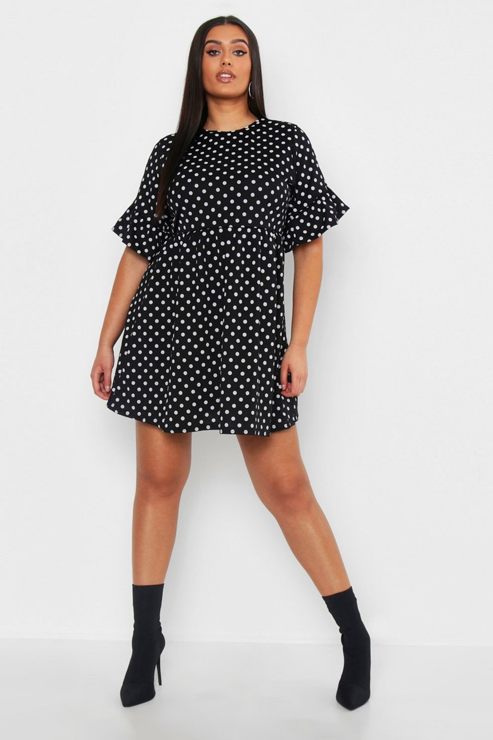 dc175b8b03d Plus Polka Dot Smock Dress