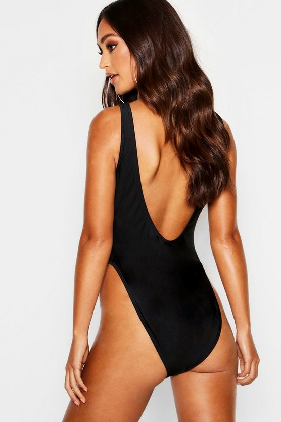 Petite Scoop High Leg Swimsuit