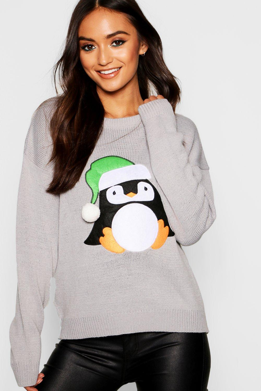 Petite Christmas Penguin Jumper