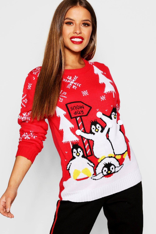 Petite Snow Day Christmas Jumper