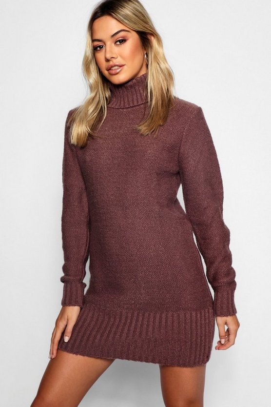 Petite Roll Neck Jumper Dress