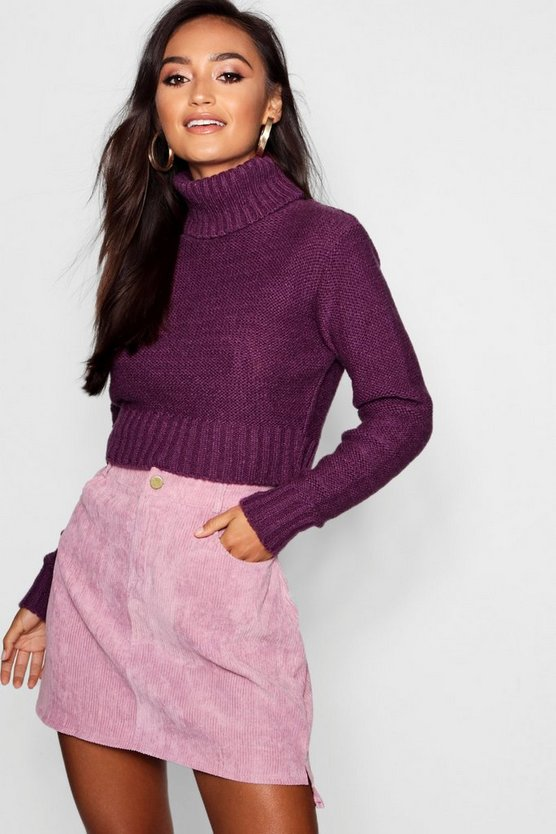 Petite Soft Knit Roll Neck Jumper