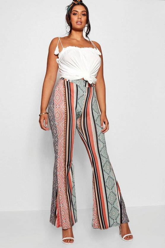 Plus Slinky Bohemian Flared Trouser