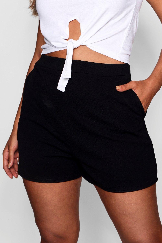 Shorts negro entallados entallados Shorts Plus r7nqgrI