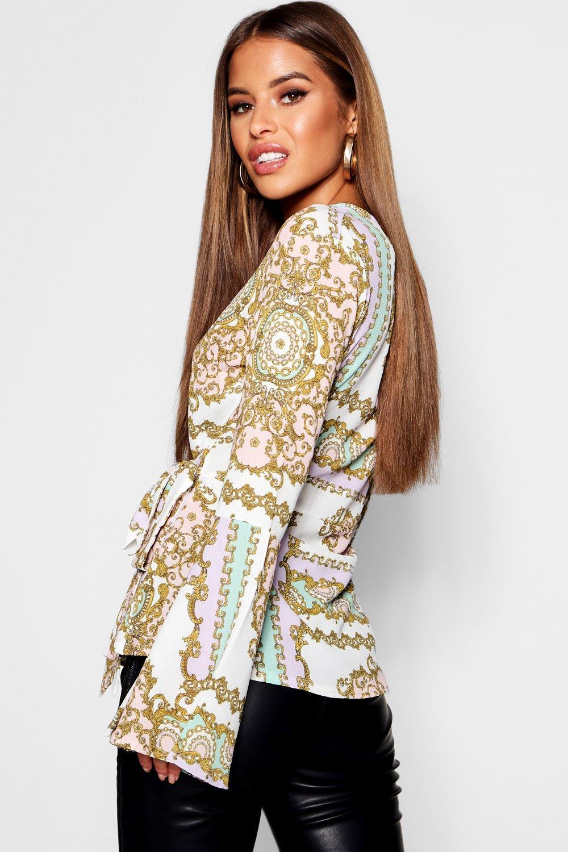 scaldacuore foulard Camicetta stampa Petite con FqnBnRY