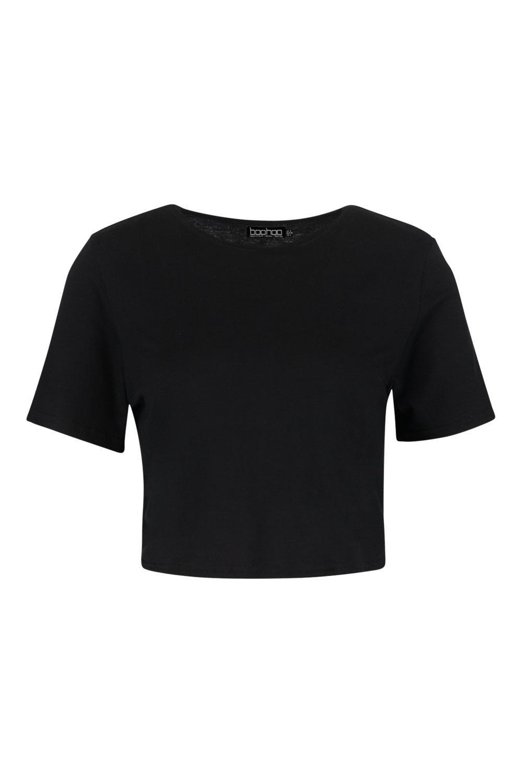 Camiseta básica corta Camiseta Petite corta negro Yxqwr0Yt
