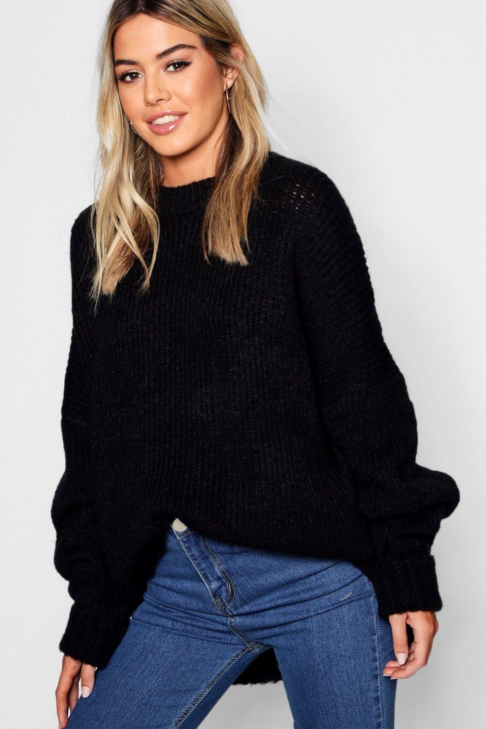 b51f33930 Petite Oversize Rib Knit Sweater