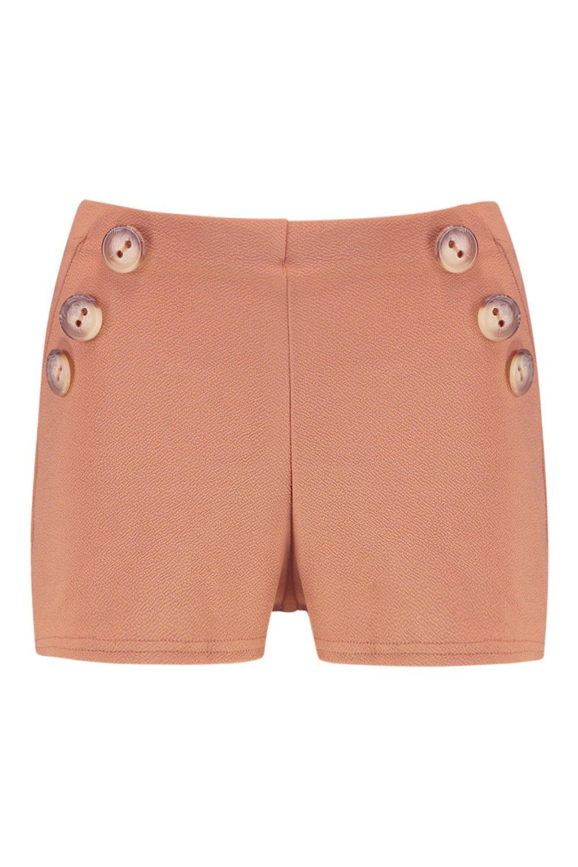 corno bottoni finto Petite in sartoriali Pantaloncini con XPqFfF