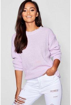 Pull oversize Ivy Petite, Lilas