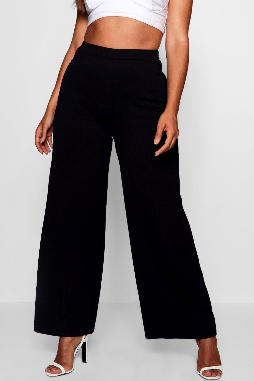 Tailored Plus black Leg Wide Trouser gHdBHwq