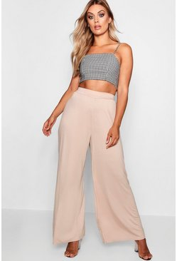 Stone Plus Jersey Wide Leg Trouser