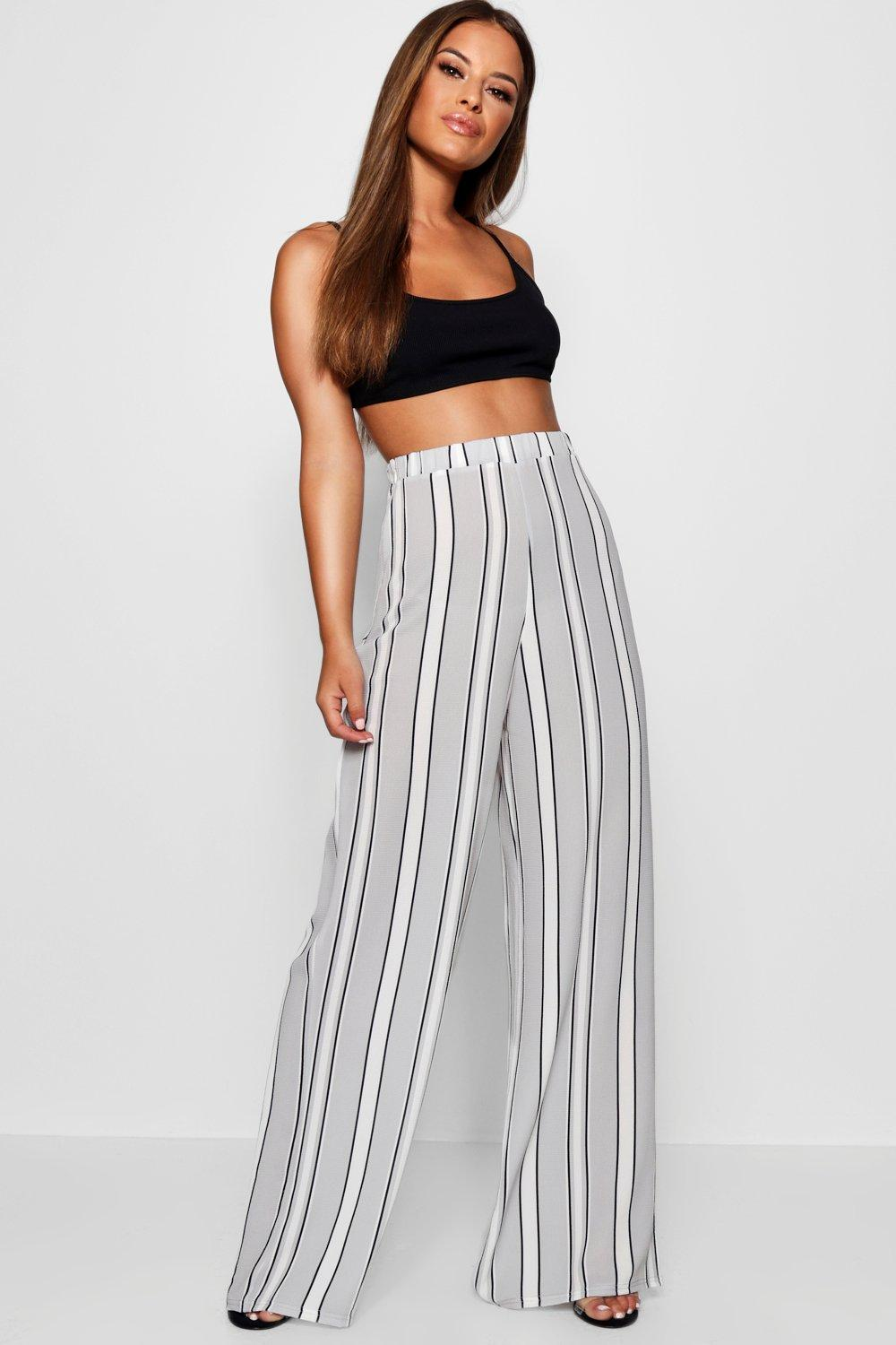Woven Petite Wide Stripe Leg Trouser grey qxYY5F7n4r