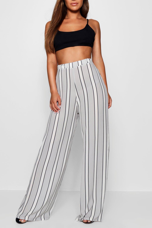 Leg Petite Wide Trouser Woven grey Stripe xx17qPwt