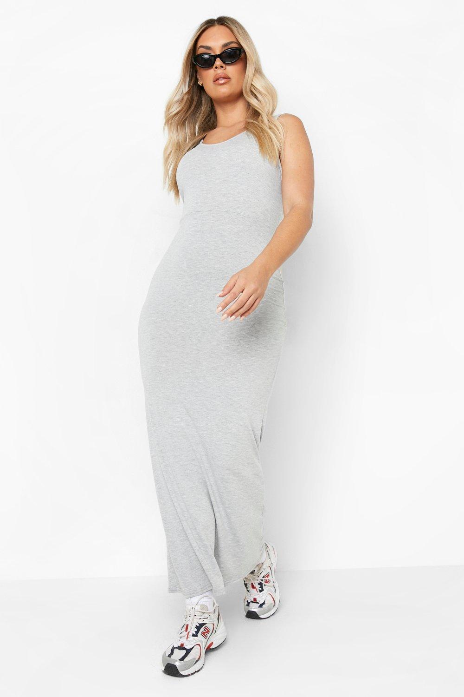 Plus Scoop Neck Maxi Dress 6