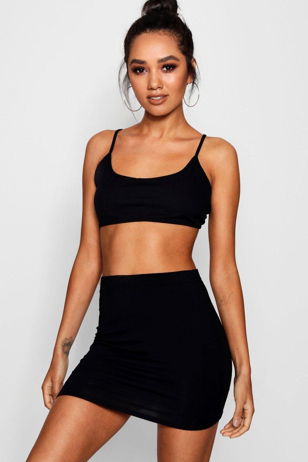 88fcae7d2 Petite Jersey Basic Mini Skirt | Boohoo