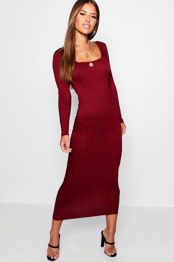 Petite Lynsey Square Neck Bodycon Dress