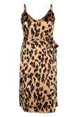 f1499552476b0 ... Womens Brown Plus Libby Leopard Print Strappy Midi Dress alternative  image ...