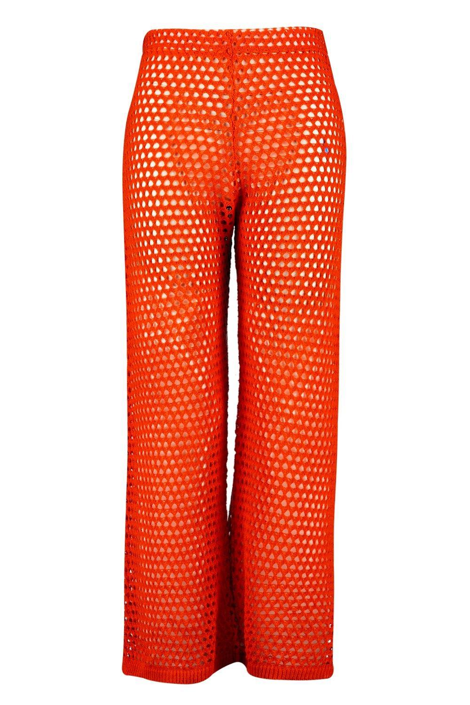 Pantalones crochet acampanados Plus naranja en qAxOaABw