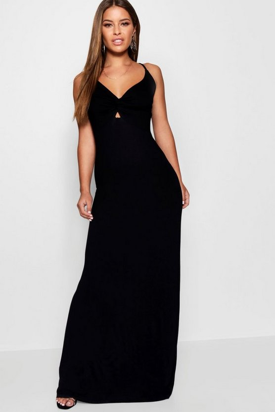 Petite Twist Front Maxi Dress