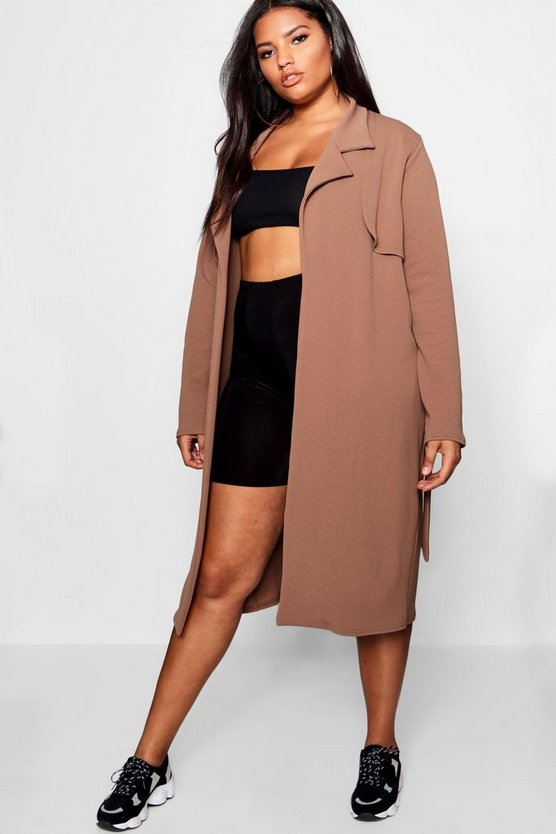 Plus Trench Duster Jacket