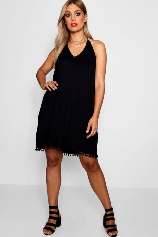 Plus Pom Pom Cami Dress