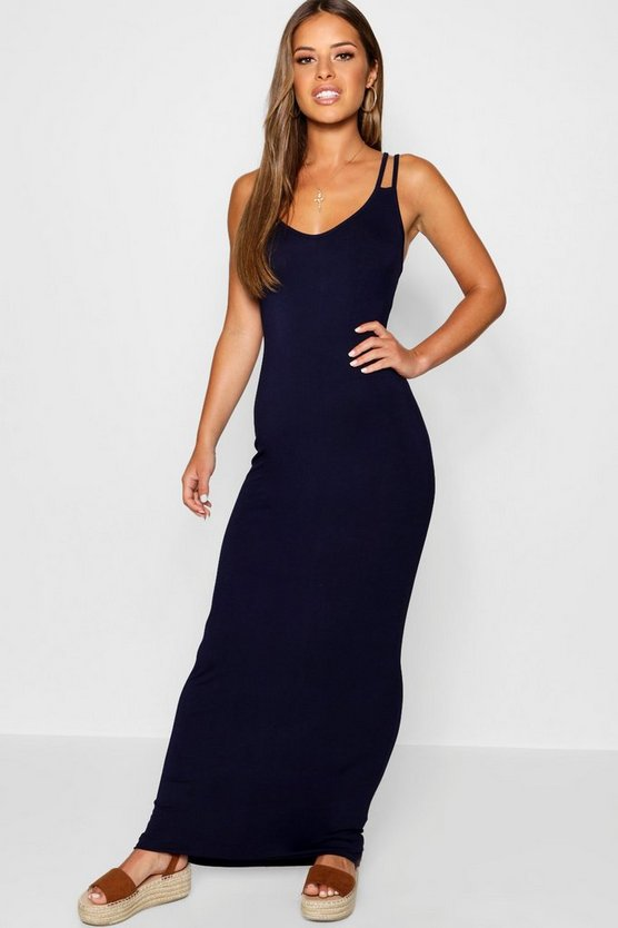 Petite Strappy Basic Maxi Dress