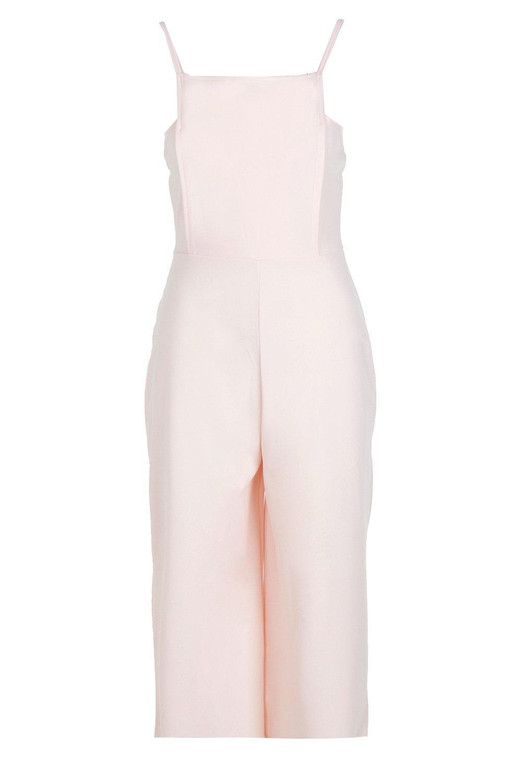 Jumpsuit Square Petite Culotte Neck nude xRqfnFTwBf
