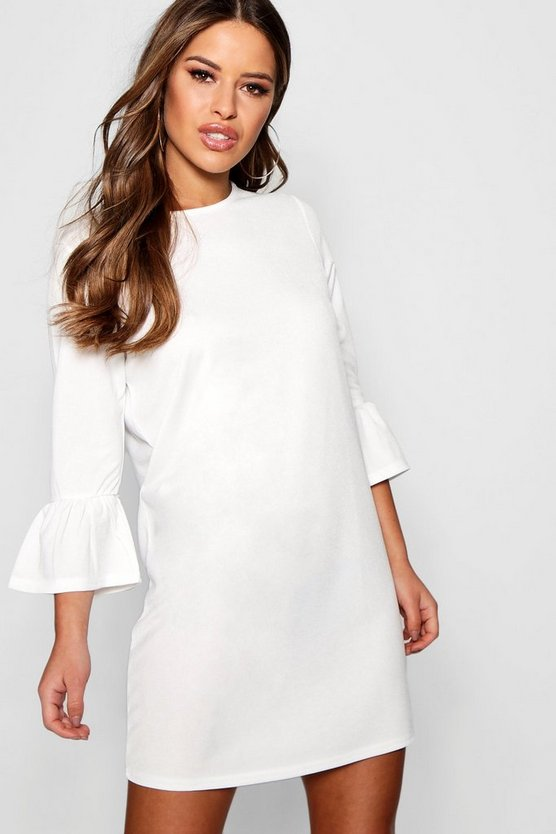 Petite  Ruffle Sleeve Shift Dress