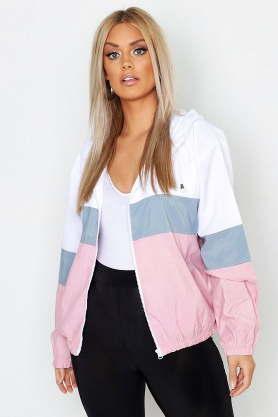 Plus Hooded Panel Wind Breaker