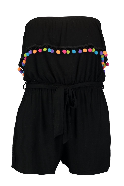 Pom Daisy Beach Playsuit Plus black Pom FEqCwg1d