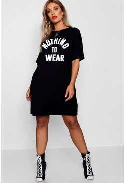 Black Plus Nothing To Wear T Shirt Dress